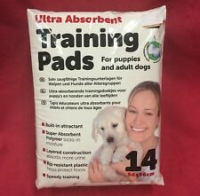 "14 X Puppy Dog House Training Pads Ultra Absorbent 22"" X 22"" Built In Attractant"