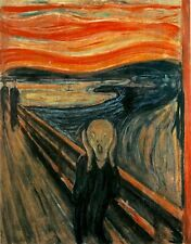 The Scream by Edvard Munch, 1893 (Classic Norwegian Expressionist Art Print)
