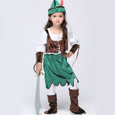 New Child Pretty Pirate Girl Kid Fancy Dress Caribbean Halloween Party Costume