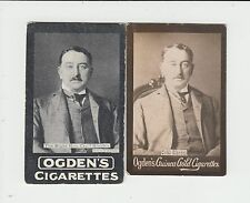 Rhodesia : Cecil Rhodes : 2 early 1900s UK tobacco cards