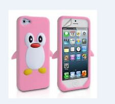 NEW Cute Pink Penguin Soft Silicone Cover Skin case for Iphone 5 5s