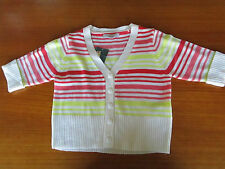 Girls Pumpkin Patch striped cropped cardigan Size 7  8  9  11  & 12   BNWT