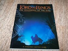 Lord of the Rings Fellowship of Ring Strategy Battle Game Games Workshop Book