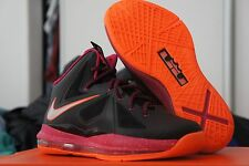 Nike Lebron X GS 10 Floridian 543564-004 Miami Heat Black Orange Pink Fireberry