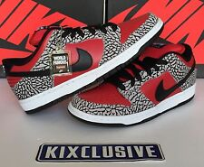 Nike Dunk Low Premium SB Black Red Supreme 2012 Size 8-13 313170-600 Brand New