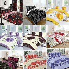 New Luxury Duvet Quilt Cover Bedding Set With Pillow Case Single Double King