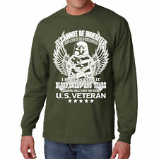 T Shirt US Veterans Long Sleeve S Blood American Tee V Mens War Army I Marines