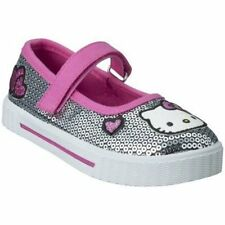 NWT HELLO KITTY Shoes Dark Pink Silver Sequin Sparkle 12 LAST PAIR