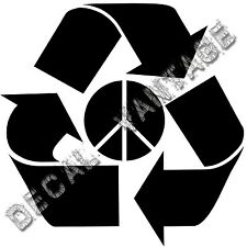 Recycle Peace Logo Styel B Vinyl Sticker Decal Environment - Choose Size & Color