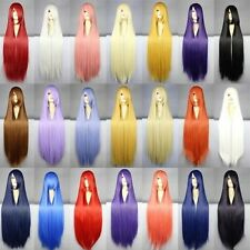 HEAT RESISTANT FULL WIG WOMEN COSPLAY ANIME HALLOWEEN PARTY SRTRAIGHT LONG HAIR