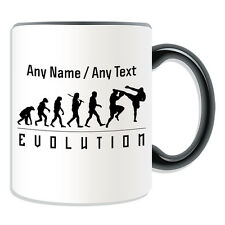 Personalised Gift MMA Mug Money Box Cup Evolution Design Art Boxing Tea Name