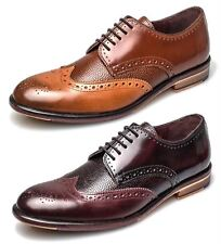 London Brogues Lincoln 5 Eye Mens Leather Sole Derby Shoes