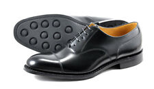 Loake Formal Black Leather Laceup shoes 806B with toe cap - Good work shoes