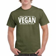 T Shirt Vegan Tee Organic S Men Animals Compassion New Healthy Vegetarian Unisex