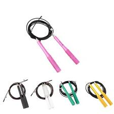Steel Wire Skipping Speed Jump Rope Strong Metal Skipping Rope Fitness N2E7