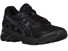 NEW WOMENS ASICS GEL-KAYANO 23 RUNNING SHOES TRAINERS BLACK / ONYX / CARBON