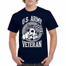 T Shirt US Army S Veteran Tee Air Marine War Bravo Gift Insignia Men Military L