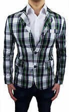MEN'S JACKET BLAZER SLIM FIT CHECK NEW SMART CASUAL size XS S M L XL XXL