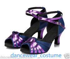New Ladies Party Ballroom Latin Tango Dance Shoes Samba Salsa Heel Sandals US5-9
