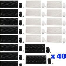 LOT 40 2.4G Optical Wireless Keyboard and Mouse USB Receiver Kit For PC Computer