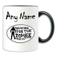 Personalised Gift Training For Zombie Apocalypse Mug Money Box Cup Walking Dead