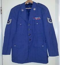 WWII Soldier's 1961 USAF Decorated Officer's Summer Blue-84 Man's Coat, Size 43S