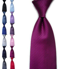 Men's Classic Striped Ties WOVEN JACQUARD Silk Suits Tie Necktie Fashion