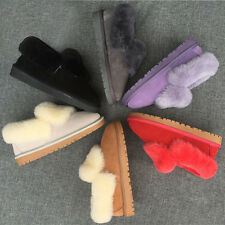 Fashion Women Fleece Fur Lining Snow Boots Warm Winter Casual Ankle Shoes HOT