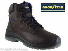 SAFETY BOOTS BROWN GOODYEAR SHERMAN STEEL TOE CAP WORK BOOTS Clearance