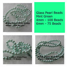 Glass Pearl Beads Mint Green 4mm 6mm Jewlery Craft Beads Round Spacer Bead