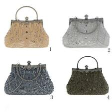 Women Ladies Handbag Beaded Wedding Evening Party Sequins Chain Clutch Bag Purse