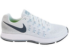NEW MENS NIKE AIR ZOOM PEGASUS 33 RUNNING SHOES TRAINERS WHITE / PURE PLATINUM