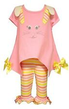 NWT Bonnie Jean Baby Girls Bunny Face Top Legging Set Easter Outfit 3-6M 12M 24M