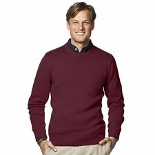 NWT Chaps Mens Burgundy Classic Fit Crewneck Long Sleeve Pullover Sweater Size S