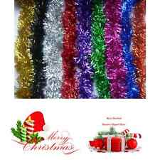 Christmas Tinsel Garland Decoration 6.5 Ft Xmas Tree Decor 7 Color Deluxe String