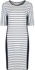 SALE! Ex Marks & Spencer Navy White Ladies Striped Tunic Shift Dress Size 8-18