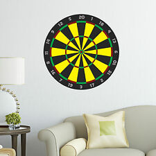 Dartboard Decal Yellow Kids Big Boys Bedroom Wall Decal Art Sticker Gift New