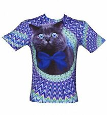 Official Unisex Psychedelic Crazy Cat T-Shirt from Mr Gugu & Miss Go