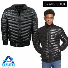 Mens Padded Bomber Jacket by Brave Soul 'Seed' Winter Coat Sizes S to XL