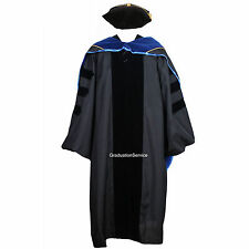 Deluxe Classic Doctoral Graduation Gown,Hood and Tam Package Unisex PHD Gown