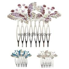 Fashion Style Crystal Butterfly Hair Comb Wedding Bridal Prom Hair Accessories