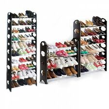 Modern 30/ 50 Pair Shoe Tower Rack 10 Tiers Holder Stand Closet Organizer BTSY
