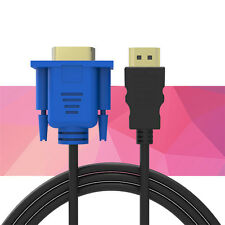 6-16FT 1080P HDMI to 15 Pin VGA Male Adapter Converter Cable For HD Player HDTV