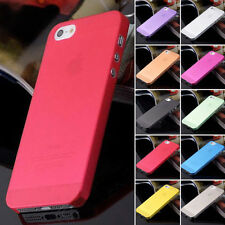 Ultra-thin 0.3mm Matte Hard Cover 10 Colors Case Back Gift iPhone 5/5S/6SE Sale
