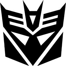 Transformers - Decepticons - Vinyl Car Window and Laptop Decal Sticker