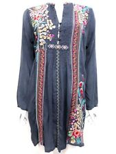 NWT Johnny Was Sheela Embroidered Extra Long Pintuck Tunic - M - JW16770916