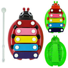 Useful 5-Note Xylophone Musical Beetle Toy Baby Kids Wisdom Developmental Toy