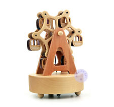"Play ""Silent Night"" Wooden Ferris Wheel Music Box with Sankyo Musical Movement"