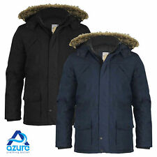 Mens Parka Parker Jacket Coat Brave Soul Quilted Padded HoodedWaterproof S to XL