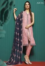 Pakistani Indian Asim Jofa designer clothing Chiffon dress Pink Color.